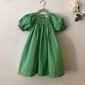 Bebe Mignon Green Smocked Dress 3T